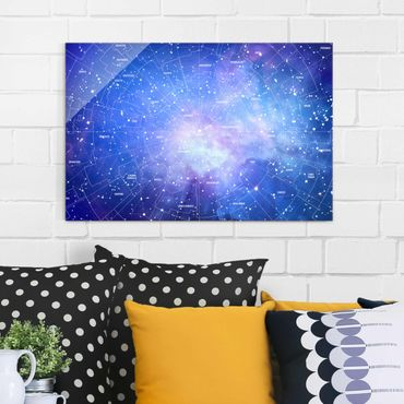 Quadro in vetro - Constellation sky map - Orizzontale 3:2