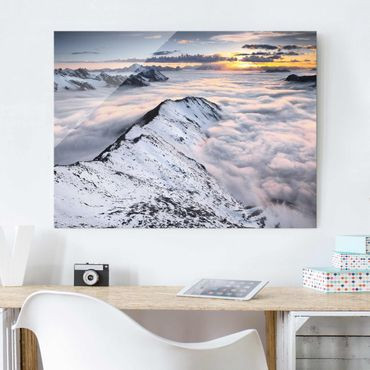 Quadro in vetro - View of clouds and mountains - Orizzontale 4:3