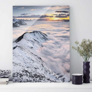 Quadro in vetro - View of clouds and mountains - Verticale 3:4