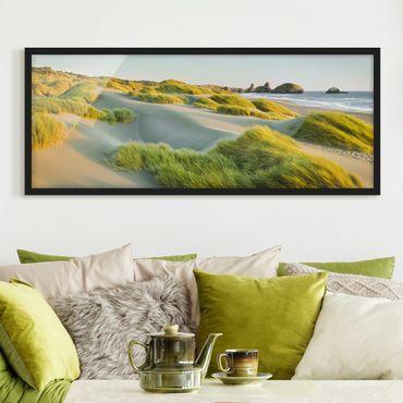 Poster con cornice - Dune Ed Erbe Al Mare - Panorama formato orizzontale
