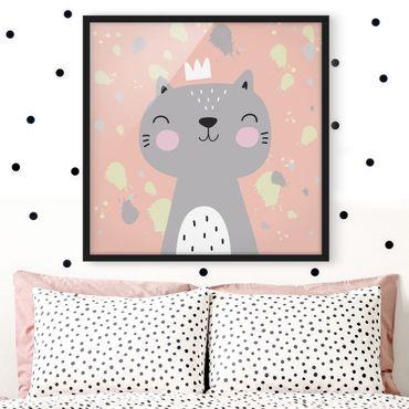 Poster con cornice - Cheeky Cat - Quadrato 1:1