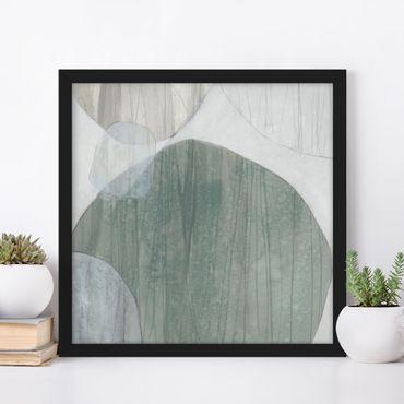 Poster con cornice - Jade I - Quadrato 1:1