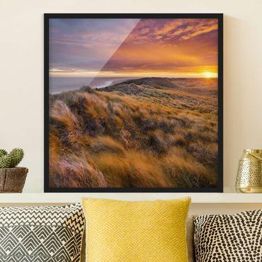 Poster con cornice - Sunrise On The Beach Of Sylt - Quadrato 1:1