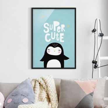 Poster con cornice - Super Cute Penguin - Verticale 4:3