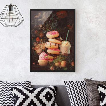 Poster con cornice - Floreale dolce Bouquet - Verticale 4:3