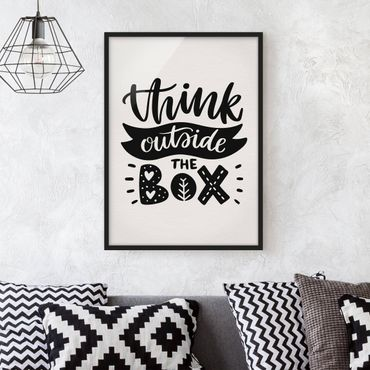 Poster con cornice - Think Outside The Box - Verticale 4:3