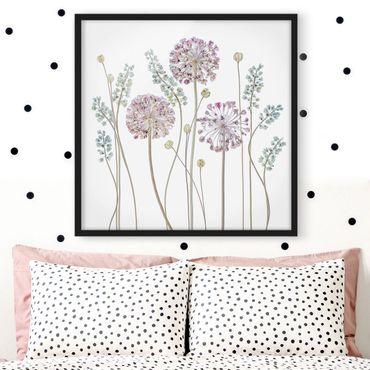 Poster con cornice - Allium Illustration - Quadrato 1:1
