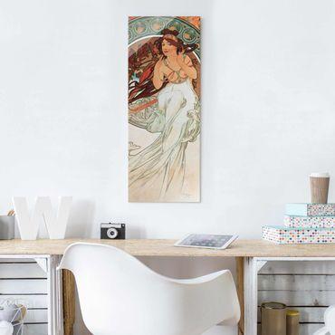 Quadro in vetro - Alfons Mucha - Quattro arti - Musica - Pannello