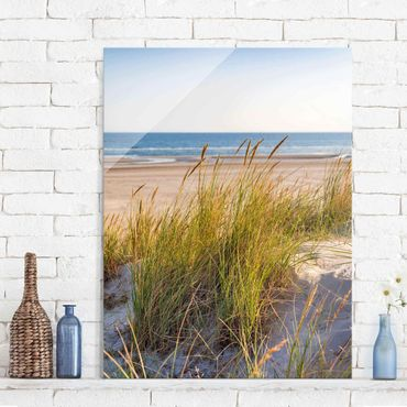Quadro in vetro - Beach Dune Al Mare - Verticale 4:3