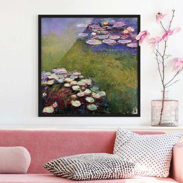 Poster con cornice - Claude Monet - Water Lilies - Quadrato 1:1