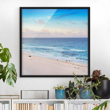 Poster con cornice - Cancun Ocean Sunset - Quadrato 1:1