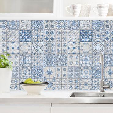 Rivestimento cucina - Motivo piastrelle Coimbra blu
