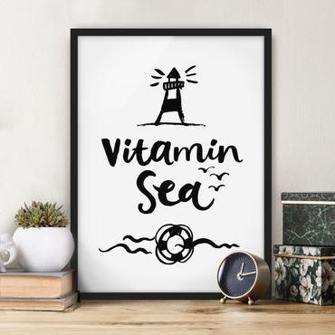 Poster con cornice - Vitamin Sea - Verticale 4:3