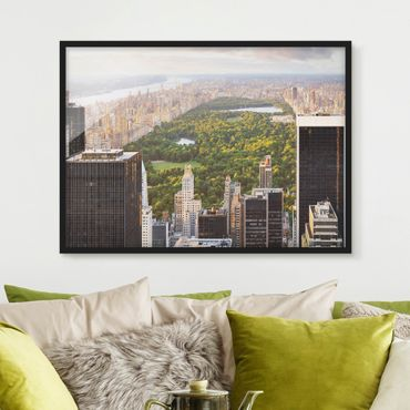 Poster con cornice - View Over Central Park - Orizzontale 3:4