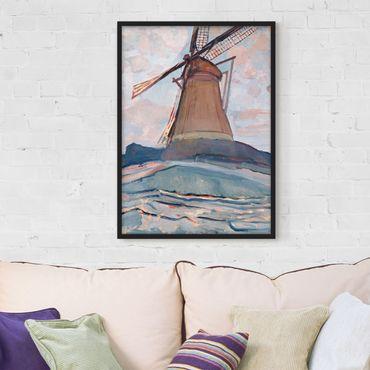 Poster con cornice - Piet Mondrian - Windmill - Verticale 4:3