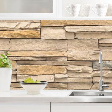 Rivestimento cucina - Effetto pietra muro andaluso