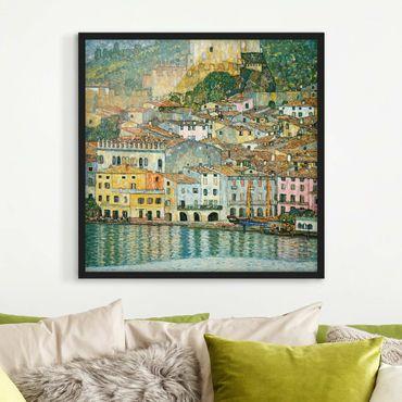Poster con cornice - Gustav Klimt - Malcesine sul Lago di Garda - Quadrato 1:1