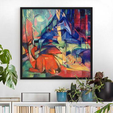 Poster con cornice - Franz Marc - Deer In The Forest - Quadrato 1:1