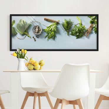 Poster con cornice - Le Erbe In Bundle - Panorama formato orizzontale