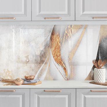Rivestimenti cucina - Oro pittura Astratta inverno