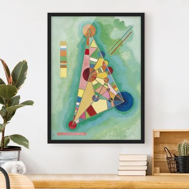 Poster con cornice - Wassily Kandinsky - Variegation In The Triangle - Verticale 4:3