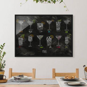 Poster con cornice - Cocktail Menu - Orizzontale 3:4