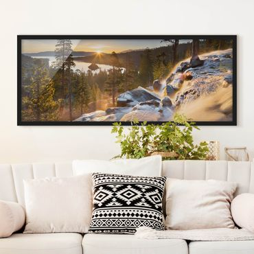 Poster con cornice - Eagle Falls - Panorama formato orizzontale