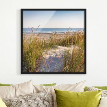 Poster con cornice - Beach Dune Al Mare - Quadrato 1:1