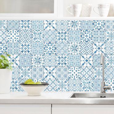 Rivestimento cucina - Motivo piastrelle blu bianco