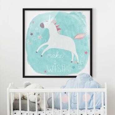 Poster con cornice - Unicorn Troop - Wish - Quadrato 1:1