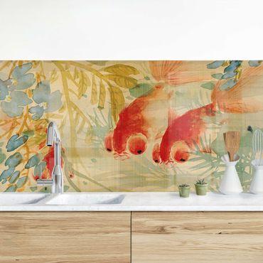 Rivestimento cucina - Ni Tian - Pesci rossi