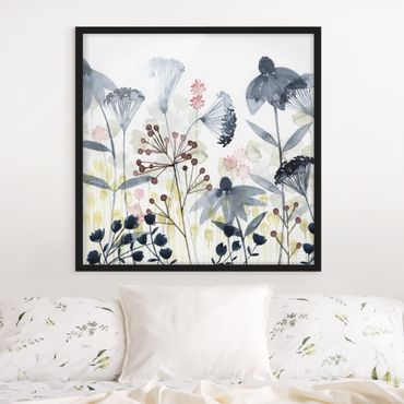 Poster con cornice - Wildflower Watercolor I - Quadrato 1:1