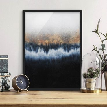 Poster con cornice - golden Horizon - Verticale 4:3