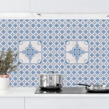 Rivestimento cucina - Motivo piastrelle Porto blu