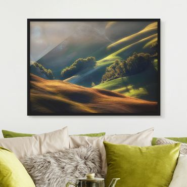 Poster con cornice - Tuscany Morning - Orizzontale 3:4