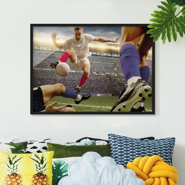Poster con cornice - Football Tactics - Orizzontale 3:4