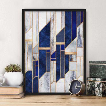 Poster con cornice - Forme geometriche con oro - Verticale 4:3