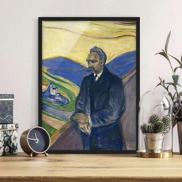 Poster con cornice - Edvard Munch - Portrait Of Friedrich Nietzsche - Verticale 4:3