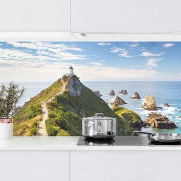 Rivestimento cucina - Nugget Point Lighthouse in Nuova Zelanda
