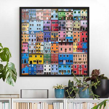 Poster con cornice - Venetian Homes - Quadrato 1:1