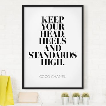 Poster con cornice - Keep Your Head High - Verticale 4:3