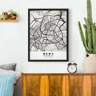 Poster con cornice - Bern City Map - Classic - Verticale 4:3