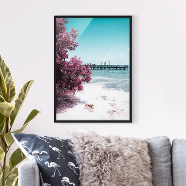 Poster con cornice - Paradise Beach Isla Mujeres - Verticale 4:3