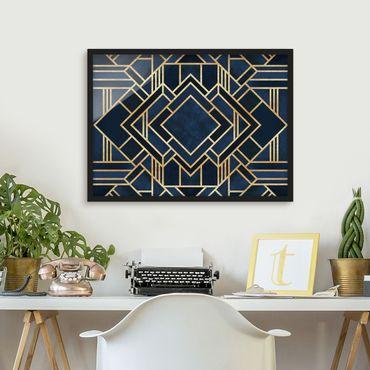 Poster con cornice - Art Deco oro - Orizzontale 3:4