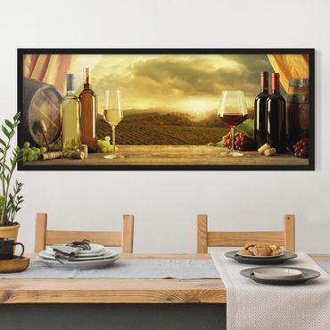 Poster con cornice - Vino Con Una Vista - Panorama formato orizzontale