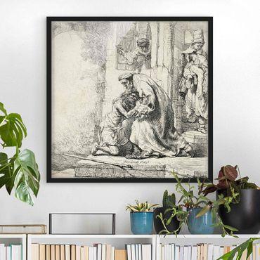 Poster con cornice - Rembrandt Van Rijn - Return Of The Son - Quadrato 1:1