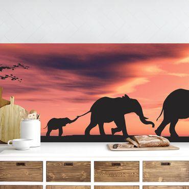 Rivestimento cucina - Savannah Elephant
