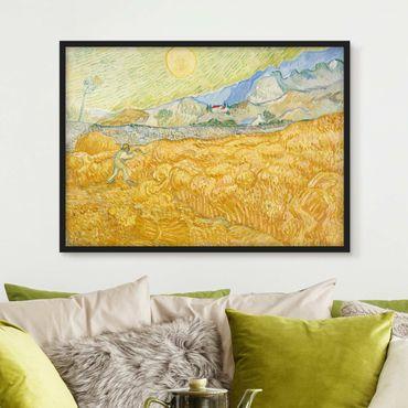 Poster con cornice - Vincent Van Gogh - Cornfield With Reaper - Orizzontale 3:4