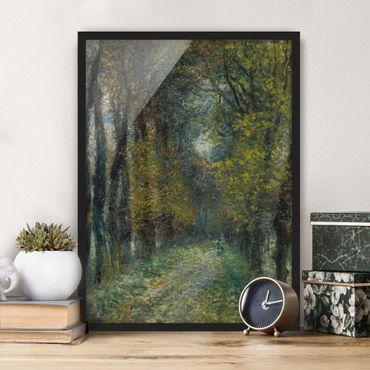 Poster con cornice - Auguste Renoir - The Allée - Verticale 4:3