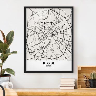 Poster con cornice - Rome City Map - Classic - Verticale 4:3